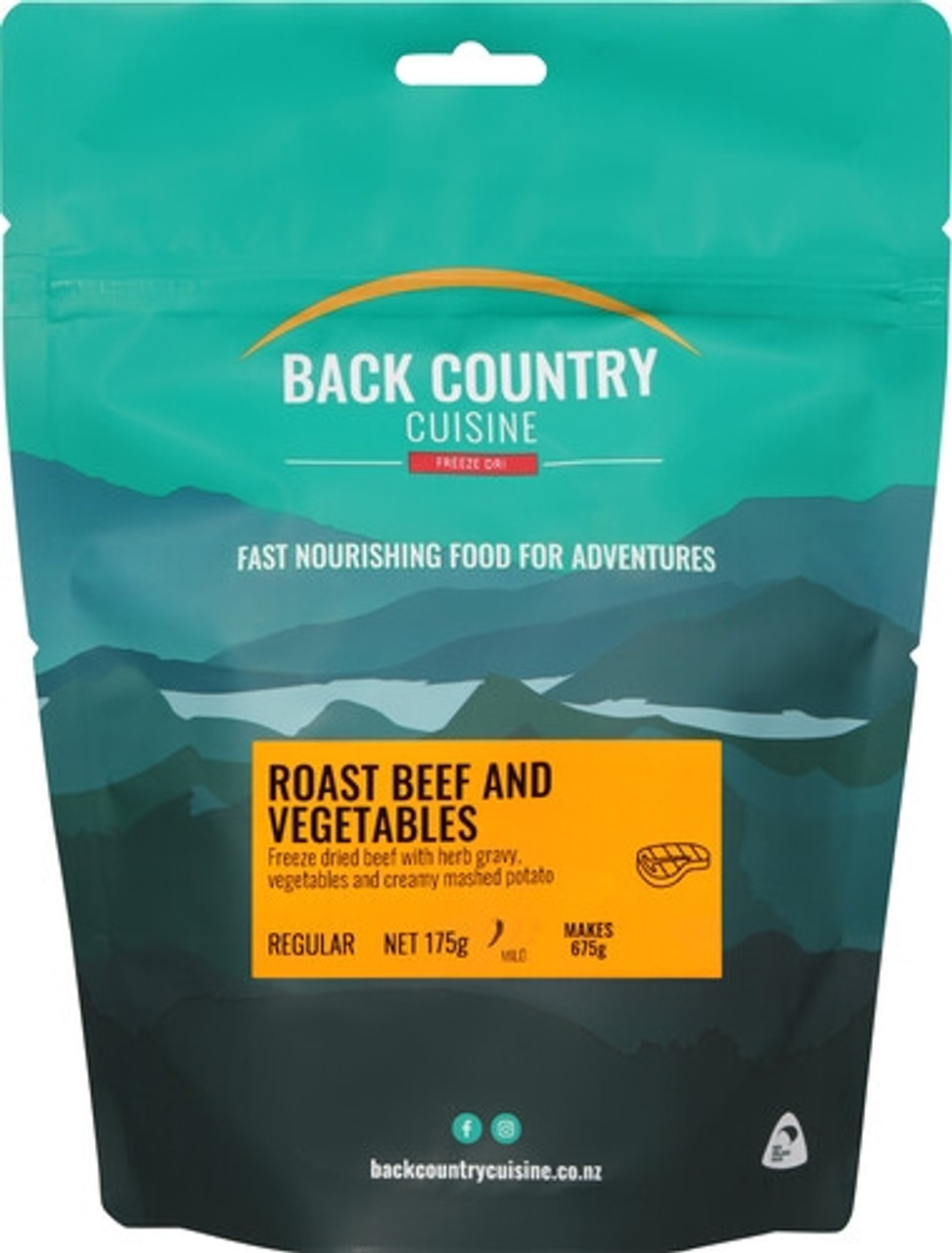 Back Country Cuisine: Roast Beef & Veg - 2 Serve Online at Mountain Mail Order South Africa