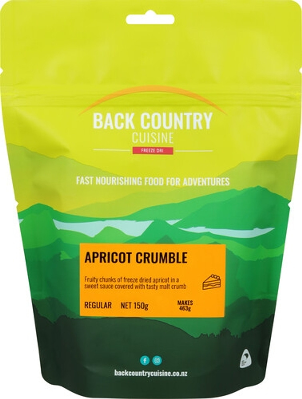 Back Country Cuisine Desert: Apricot Crumble Online at Mountain Mail Order South Africa