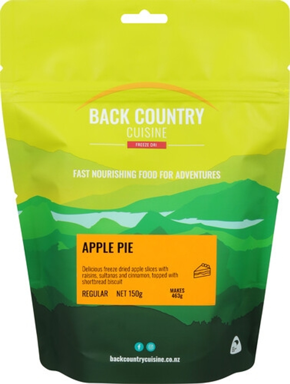 Back Country Cuisine Desert: Apple Pie Online at Mountain Mail Order South Africa