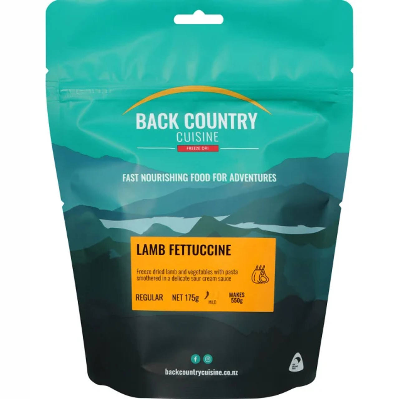 Back Country Cuisine: Lamb Fettuccine Online at Mountain Mail Order South Africa