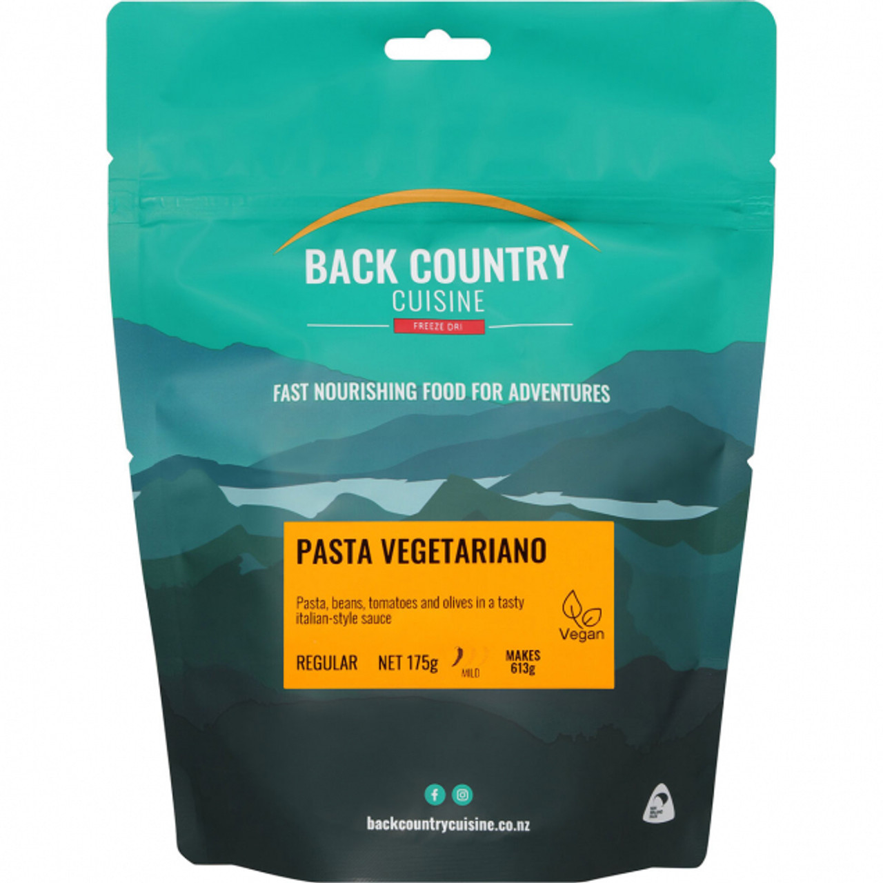 Back Country Cuisine: Pasta Vegetariano Online at Mountain Mail Order South Africa