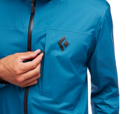 Black Diamond Fineline Rain Jacket Black @mountainmailorder.co.za