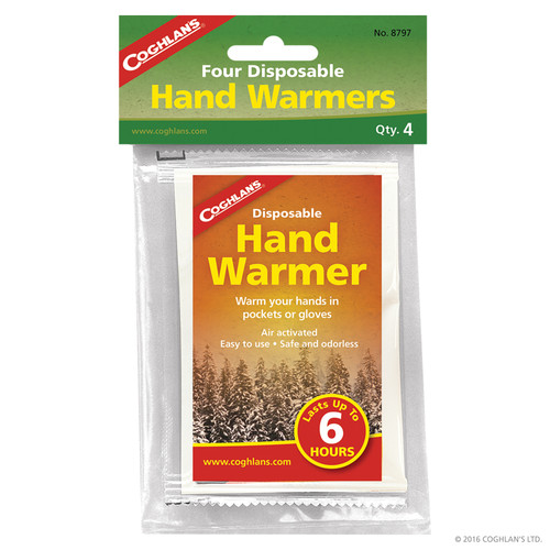 Coghlans Disposable Hand Warmers @http//www.mountainmailorder.co.za
