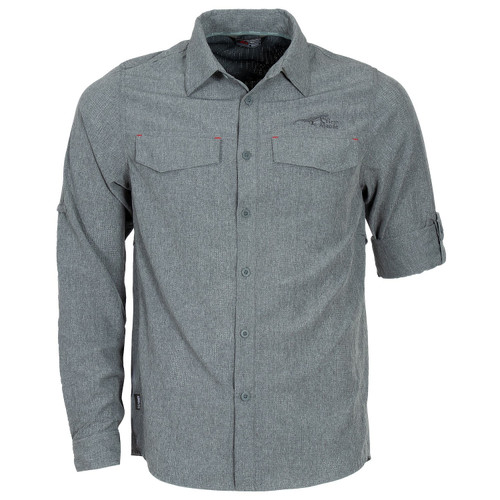 First Ascent Nueva Long Sleeve Shirt for Men - Charcoal Online at Mountain Mail Order South Africa