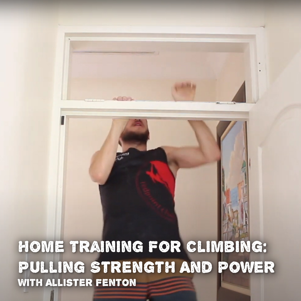 Home training for climbing: Pulling strength and power