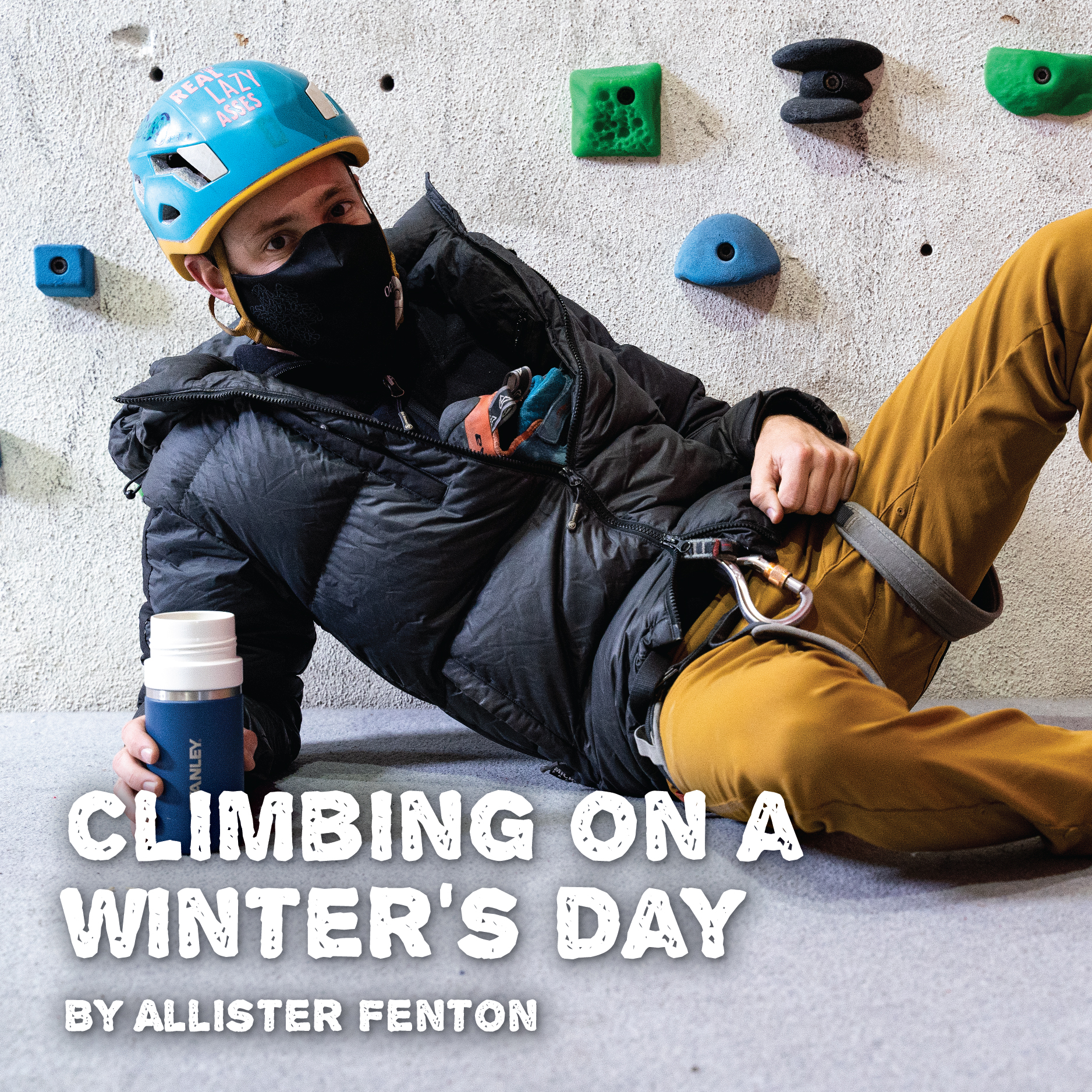 Climbing on a winter's day