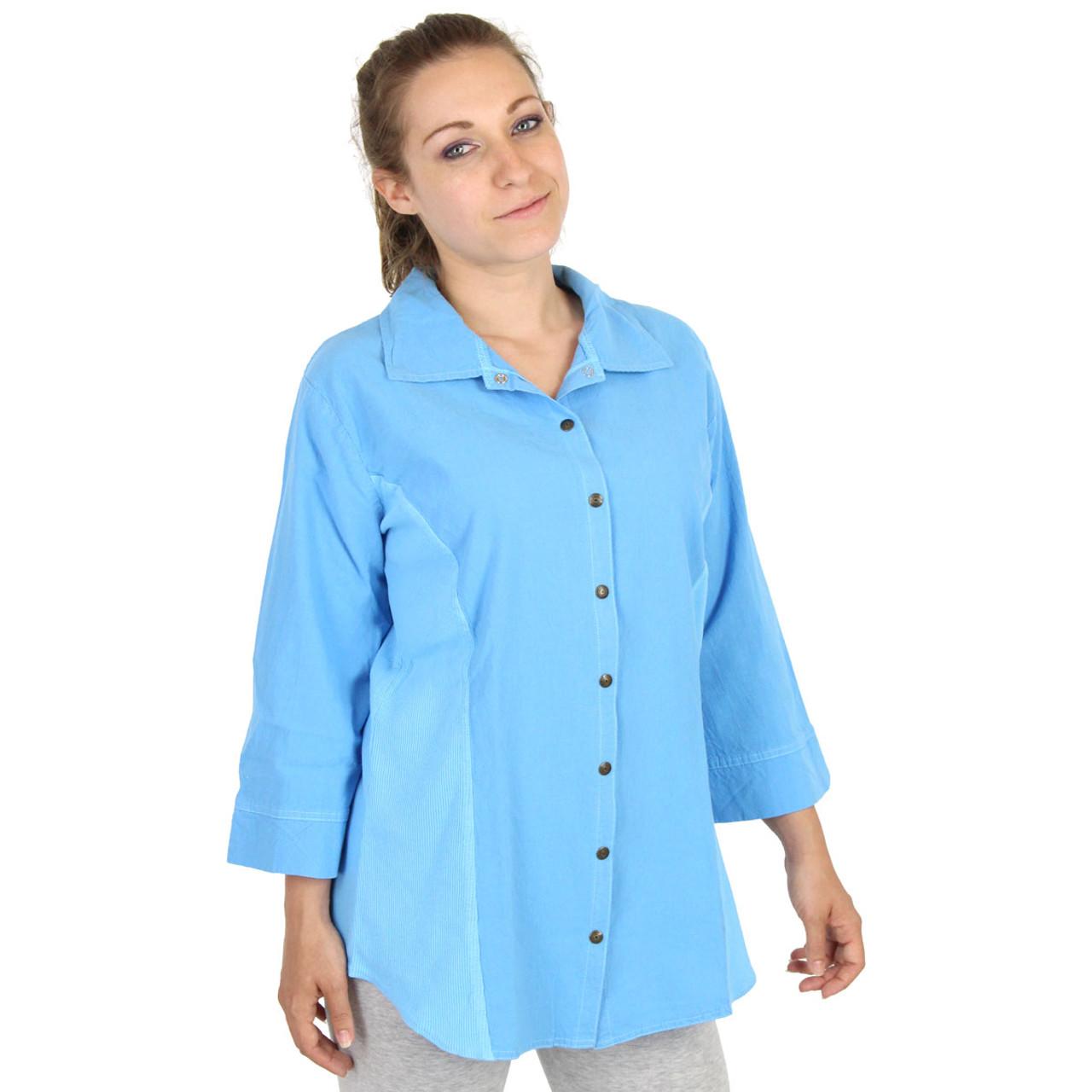 0de115804 HoneyKomb Corded 3 Qtr Sleeve Tailored Blouse Top Shirt / Ezze Wear ...