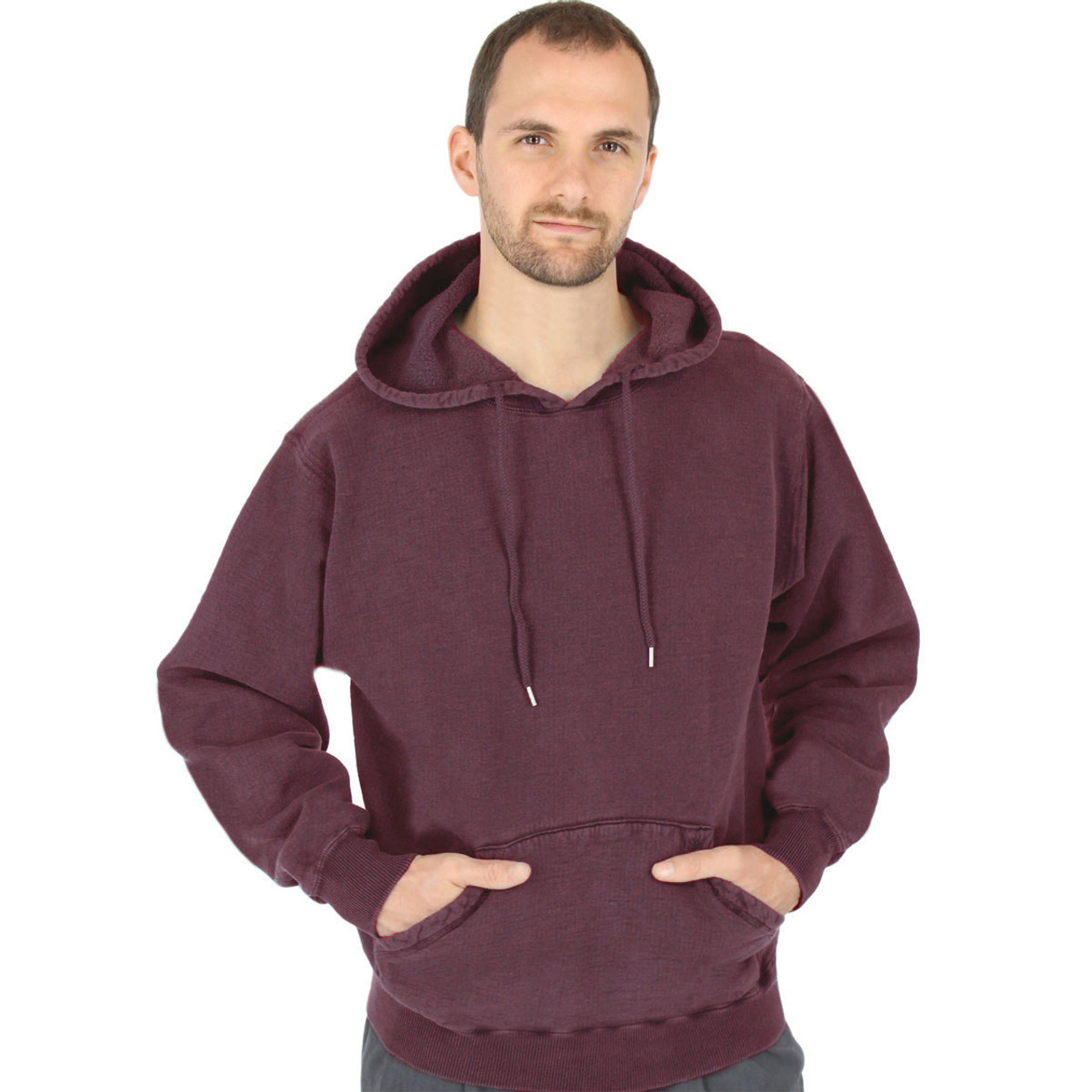 16257fe3e CottonMill 100% Heavy Cotton Mens Hooded Pullover Hoodie Sweatshirt ...