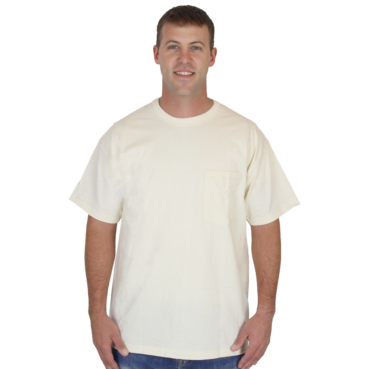 Womens Sage 100/% Organic Cotton Crewneck Tee Shirt Hypoallergenic USA MADE