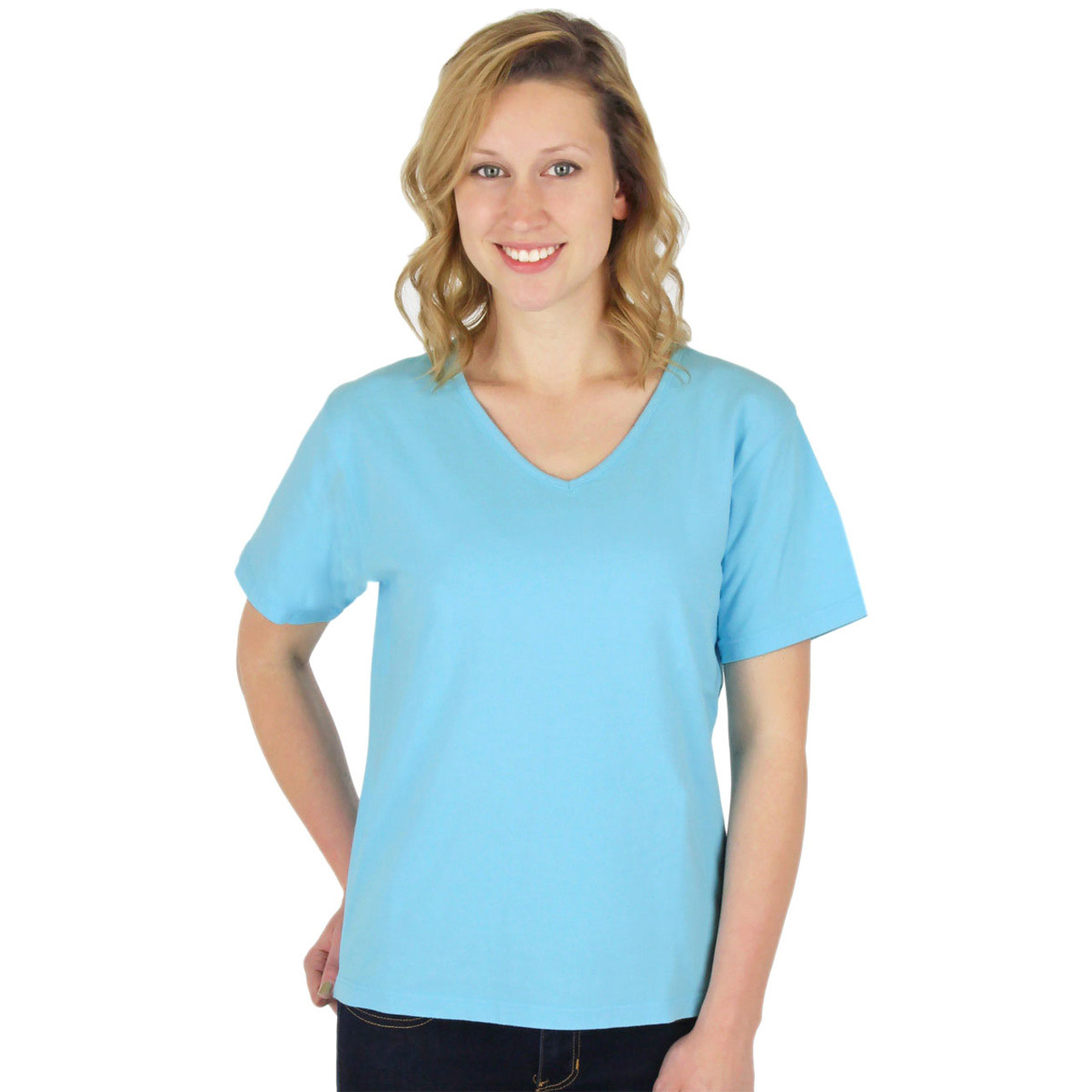3664920fe55e6a Women's Cotton Shirts | Short Sleeve Tees | ICanToo Cotton Clothing Made in  USA