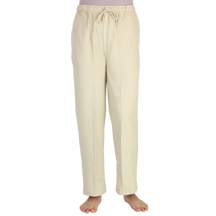 Ladies Canton Cotton Pants Flax