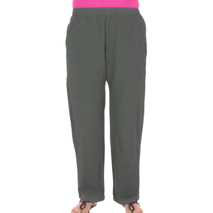 Womens All-Cotton Beefy 8 oz STRAIGHT-LEG SWEAT PANTS Steel