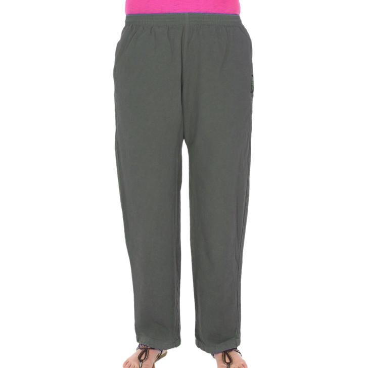 Womens All-Cotton Beefy 8 oz STRAIGHT-LEG SWEAT PANTS Steel