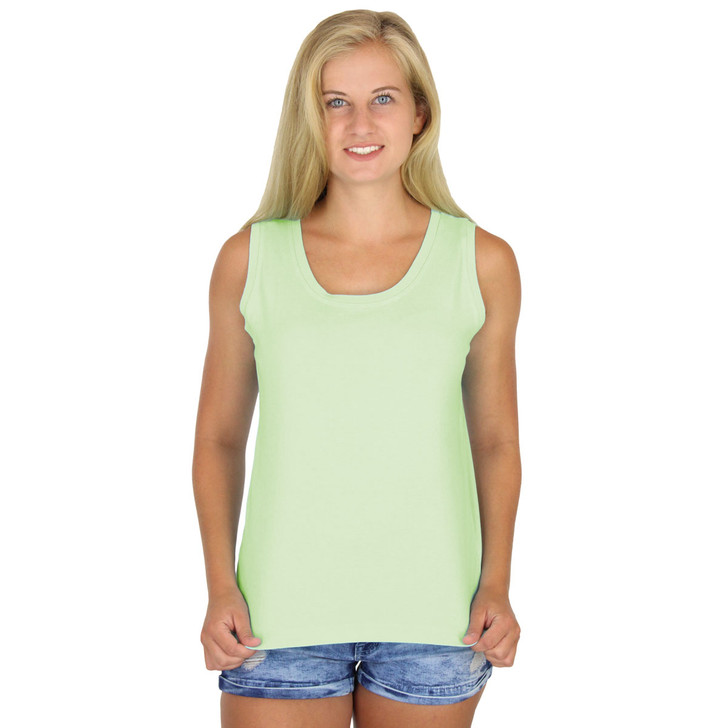 100% Cotton Knit Solid Tank Top - Honey Dew