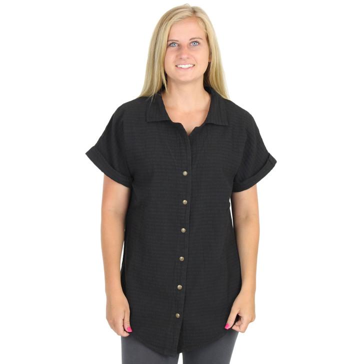 Mirage Cotton Short Sleeve Snap Tunic