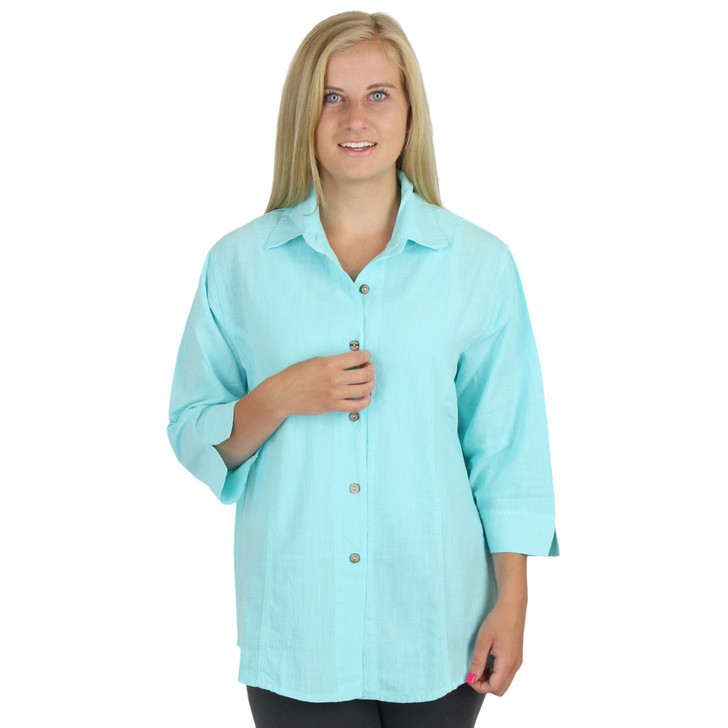 100% Cool Cotton Classic Shirt Sea Mist