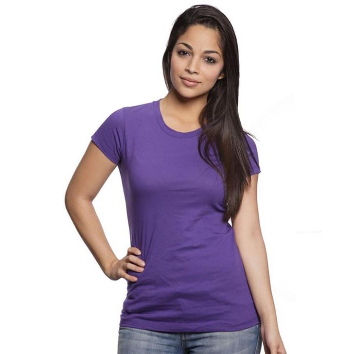 Women's 100% Cotton Short Sleeve - Long Tee