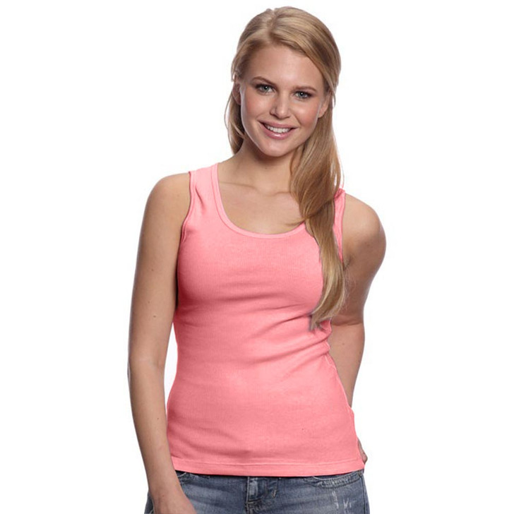 Women's 100% Cotton 2X1 Rib Tank Top