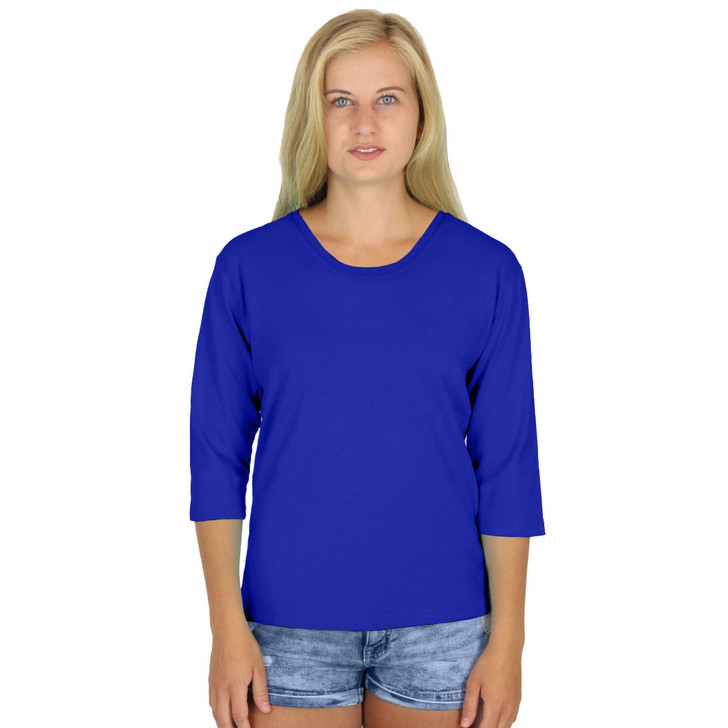 Round Neck Ultra Soft 100% Cotton Tee USA