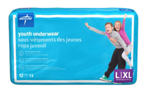 Drytime Youth Under Wear Large/X-Large 29-56kg, Pack/12