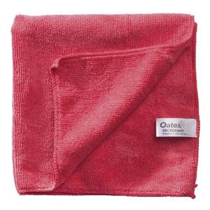 Oates Microfibre All Purpose Cloth, Red, (MF-034R), Each