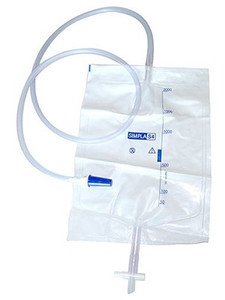 Simpla S4 Urine Drainage Bag with T-Tap and Sample Port Sterile 100cm Tube / 2000ml, Each