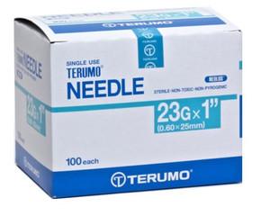"""Terumo Agani Needle 23G x 1"""" B/100"""