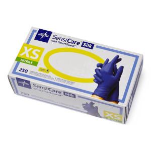 SensiCare Silk Nitrile Gloves, X-Small,  Box/250