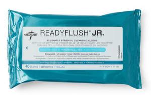 Readyflush Jr. Fragrance Free 20cm x 30cm Flushable Wipes Pk40, Each