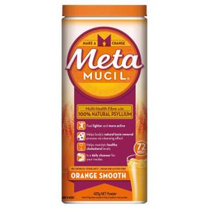 Metamucil Smooth Texture Orange Flavour, 425g x 72  Doses