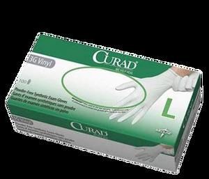 Curad 3G Powder-Free Vinyl Latex-Free Gloves Large, Box/100
