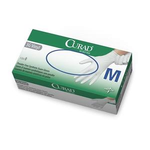 Curad 3G Powder-Free Vinyl Latex-Free Gloves Medium, Box/100