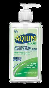 Aqium Hand Sanitiser (Aloe) 375mL, Each