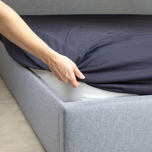 NIGHT N DAY Fitted Waterproof Sheet w/ elastic binding, Single (91x188cm),Navy Blue, Each