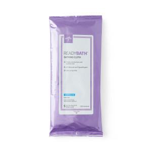 ReadyBath Total Body Cleansing Washcloths 23cm x 30cm, Fragrance-Free, Pack/5