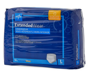 Protection Plus Extended Wear Large, Pack/14