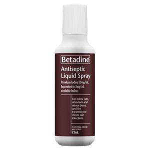 Betadine Antiseptic Spray 75ml Pump Pack Each