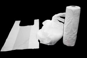 Thin plastic 9MIC, 200 pcs per roll, 10 rolls per carton TShirt Bags on Roll 2000pc