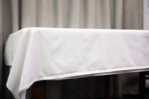 Table Cloth 150x150cm White, Plain, 225gsm, Carton 36 pcs