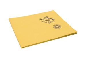 Vileda Micronquick Microfibre Cloths, Durable, Yellow, Pack/5 VP-152111