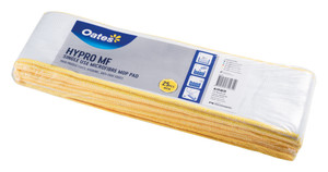 Oates Hypro Microfibre Mop Pad, Single Use, Yellow, Pack/25 MF-088Y