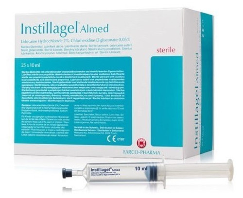 Instillagel Almed Lidocaine 2% Chlor 0.05% Gel 10ml syringe, Each