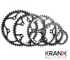 KranX 104BCD Alloy CNC Narrow-Wide 9/10 Speed Chainring in Black All Sizes
