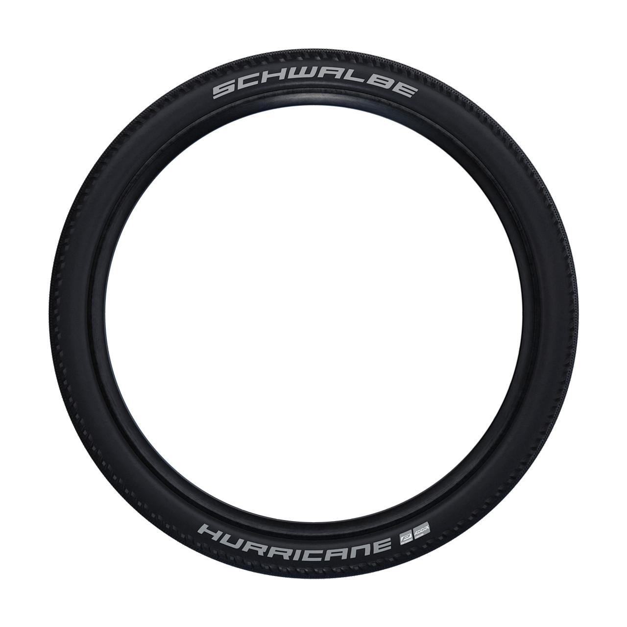 Schwalbe Hurricane Addix Performance Wired Tyre In Black/Reflex