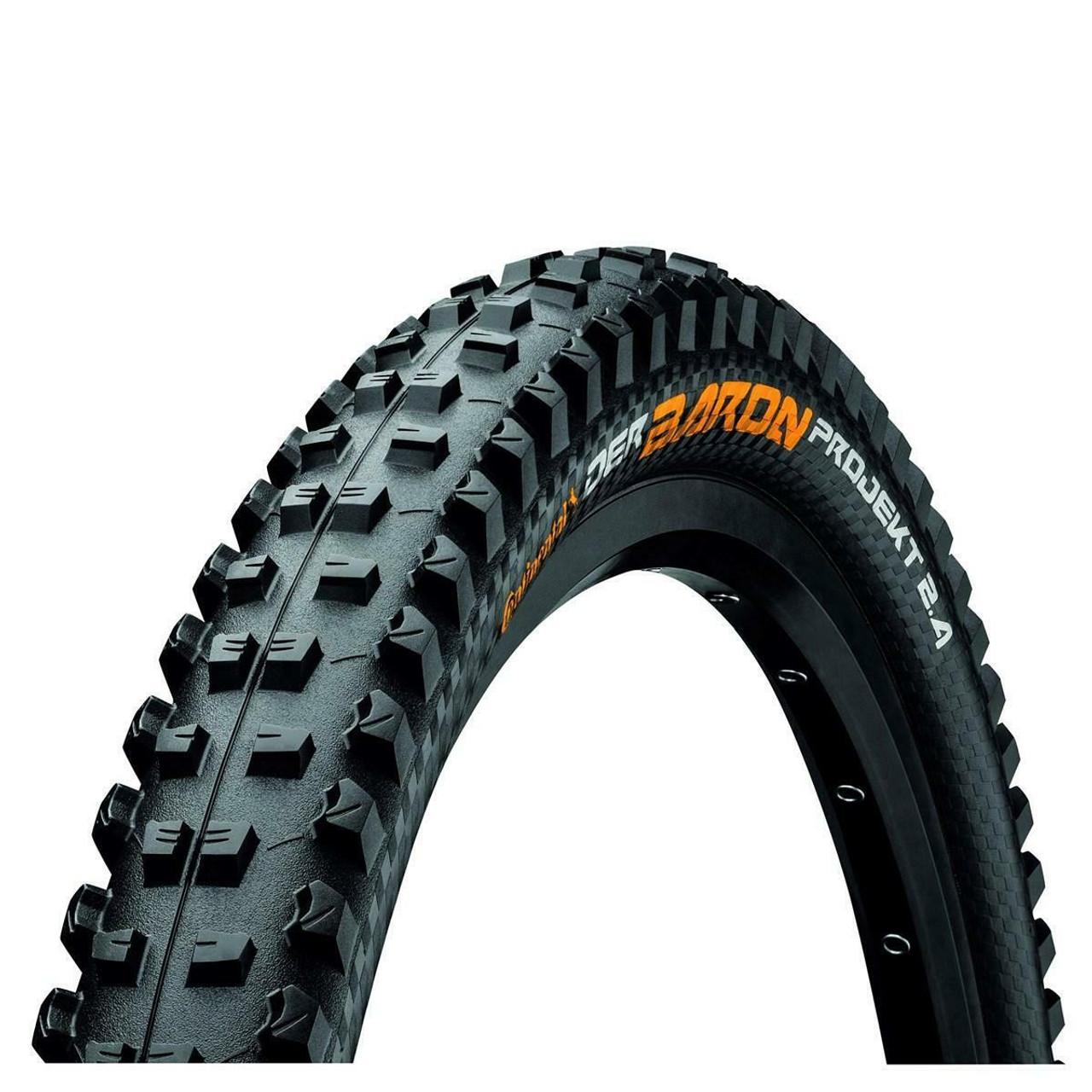 Continental Der Baron Projekt Protection Apex Tubeless Folding BlackChili Tyre