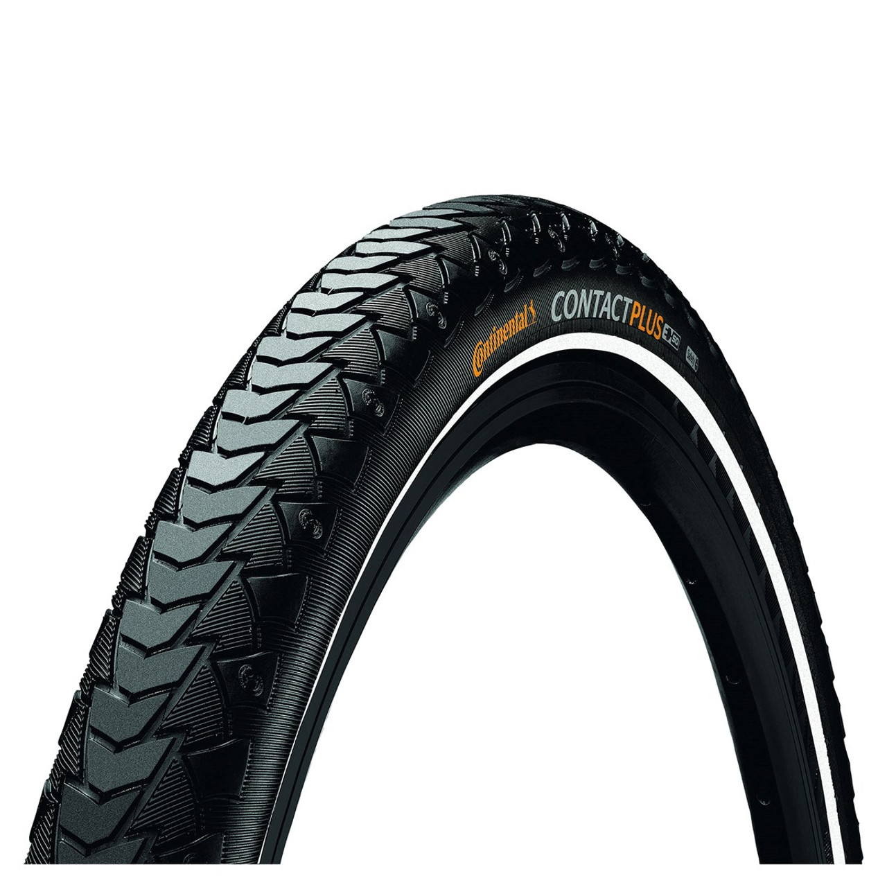 Continental Contact Plus Wired Tyre In Black/Reflex