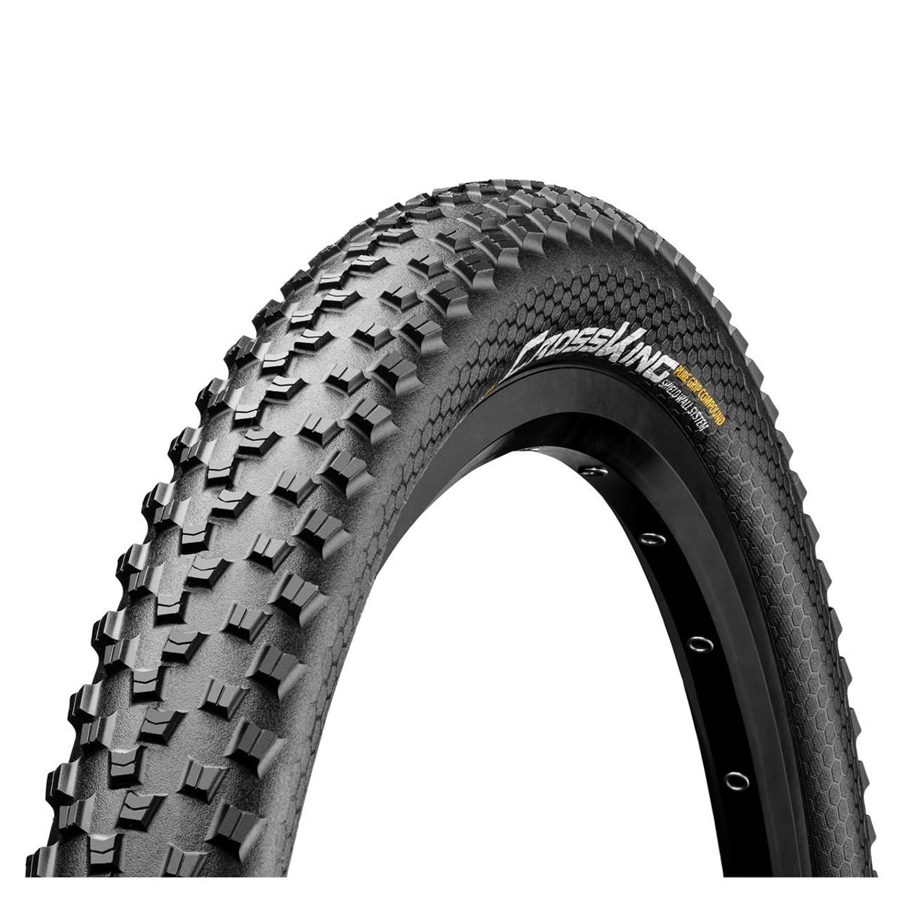 Continental Cross King PureGrip ShieldWall Tubeless Ready Folding Tyre Black All Sizes