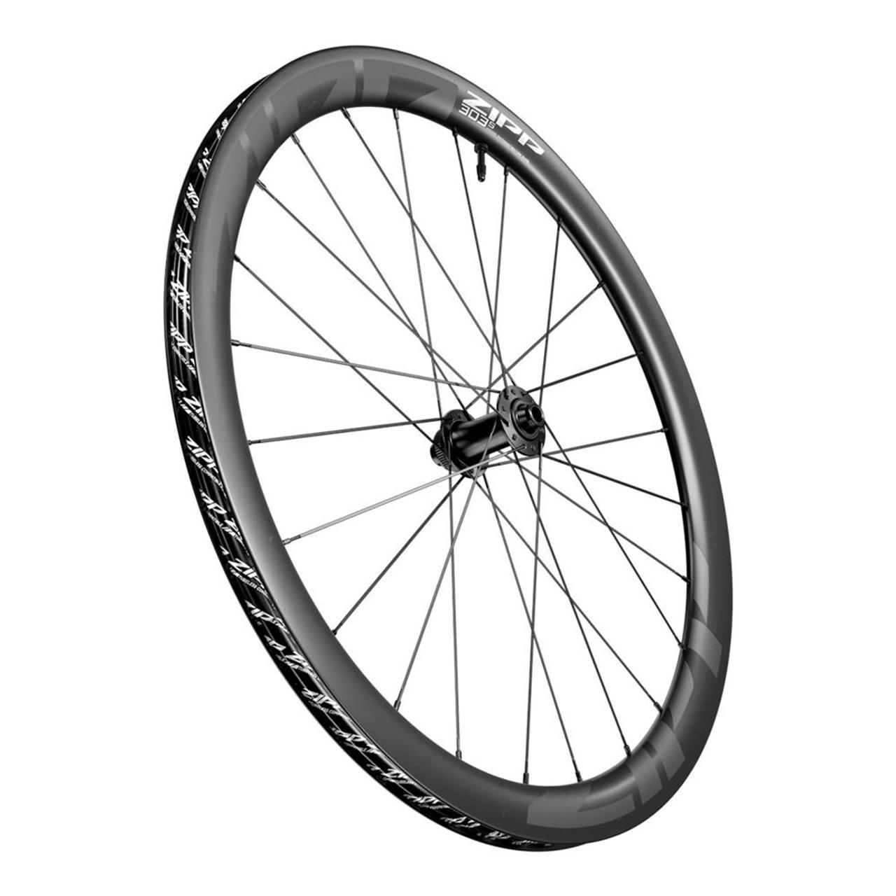 ZIPP 303 S Carbon Tubeless Ready Disc Brake Center Lockring 700C Front Wheel 24Spokes 12 X 100mm A1