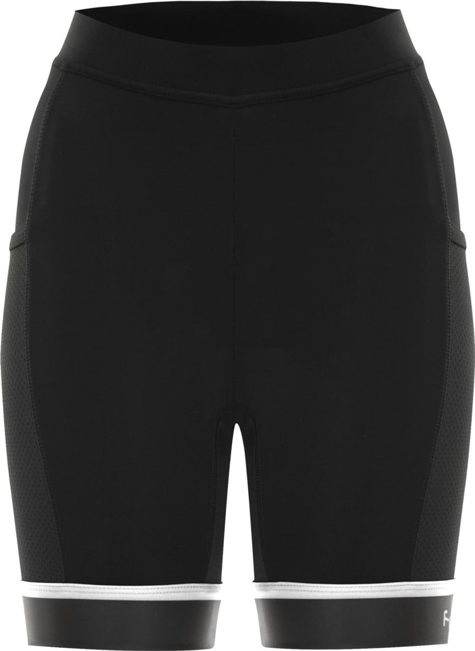 Funkier Abara Ladies 11 Panel Shorts (C13 Pad) in Black
