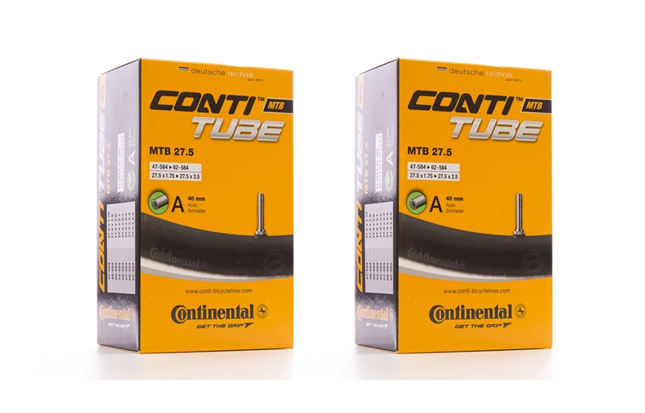 2x Continental MTB 27.5 x 1.75-2.5 Inner Tube With 40mm Schrader Valve